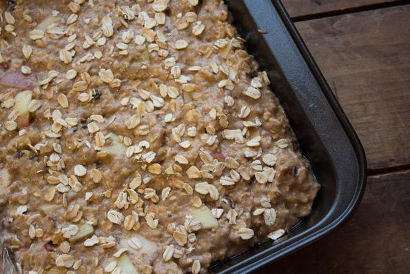 Печени енергетски плочки со јаболка и овес