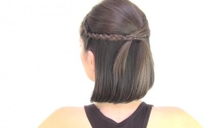Оригинални фризури за средна и кратка должина на косата