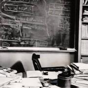 Бирото на Алберт Ајнштајн неколку часа по неговата смрт