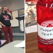 За време на одморот помеѓу часовите учениците конечно дознале што пие нивниот професор