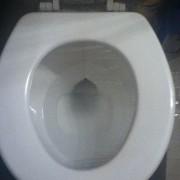 Ставете проѕирна фолија врз тоалетната школка