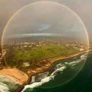 Виножито фатено од авион на панорамска фотографија од 360 степени