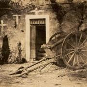 Фотографија на Пол Мари, Количка за волови - солен принт на хартија добиен од хартиен негатив (1857 година)