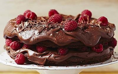 Посна безглутенска чоколадна торта