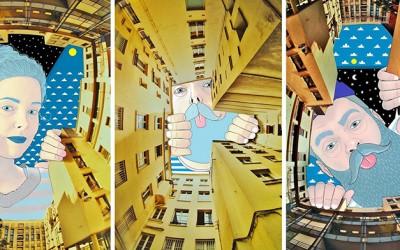 Артист го користи небото како платно за неговите брилијантни цртежи
