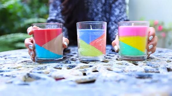 (12) Направете сами: Колоритни миризливи свеќи за вашиот дом, составени од мрсни боички