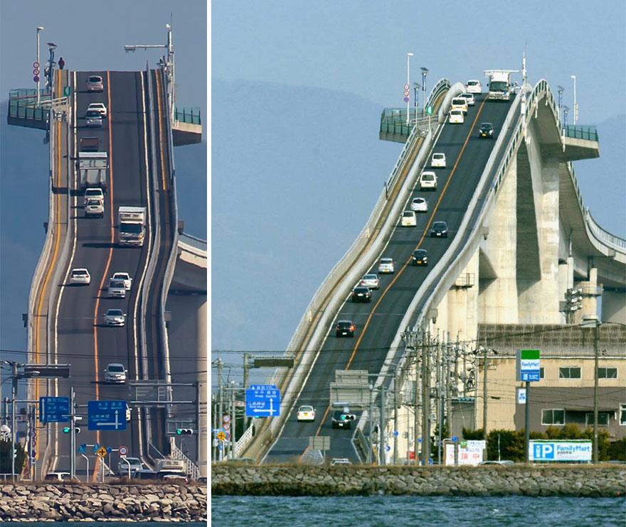 (2) Мост во Јапонија кој изгледа како луда железница
