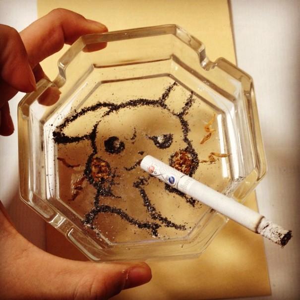 (5) Цигарите можеби убиваат, но овој артист прави убиствена уметност со нивната пепел
