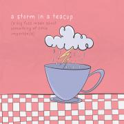 Бура во шолја за чај (голема врева за нешто со мала значајност)