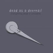 Мртов како шајка за врата (целосно мртов или неупотреблив)