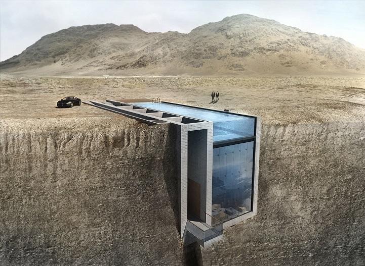 (1) Неверојатен дом кој е вграден во карпа, со поглед кон Егејското море