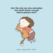 Дали сум јас единствената личност која пресметува колку ќе спие пред да си легне?