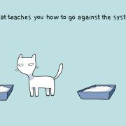 Мачката ве учи како да му се спротивставите на системот