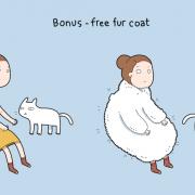Бонус - бесплатен крзнен капут