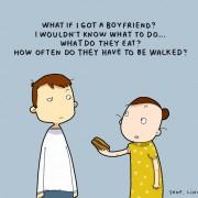 Што ако фатам дечко? Не би знаела што да правам. Што јадат тие? Колку често треба да се носат на шетање?