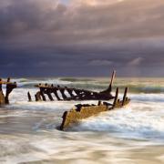 Останките од СС Дики пред бура, Квинсленд