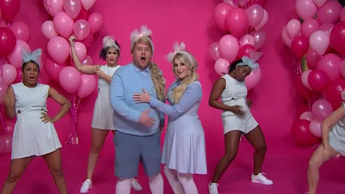 """Меган Трејнор и Џејмс Корден со одлична пародија на песната """"All About That Bass"""""""