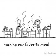 Го готвам нашето омилено јадење