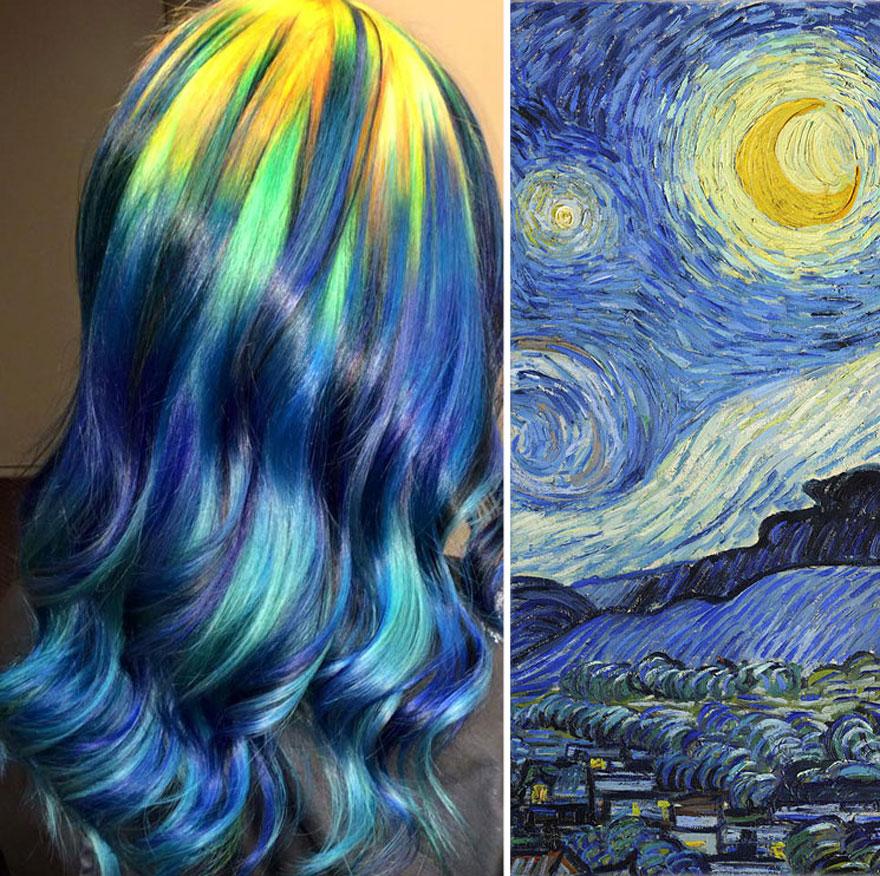 Оваа фризерка создава фризури инспирирани од класична уметност