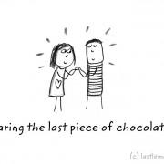 Го делам последното парче чоколадо со тебе