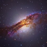 Кентаур А е една од најблиските активни галаксии до нашата - таа е оддалечена 12 милиони светлосни години од Земјата