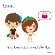 Љубов е... Кога го правиме тоа што му се допаѓа на другиот.