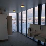 Поглед од училишен тоалет во Исланд