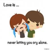 Љубов е... Кога не дозволувам да плачеш сам/а