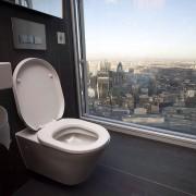 Тоалет на 68-от кат во кулата Шард, Лондон