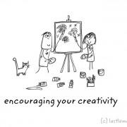 Ја охрабрувам твојата креативност