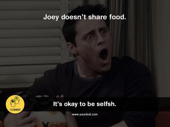 Џои не дели храна со никого.