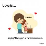 """Љубов е... Кога велиме """"те сакам"""" без никаков повод."""