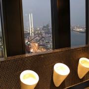 Поглед од јавниот тоалет на 20-от кат во Хамбург, Германија