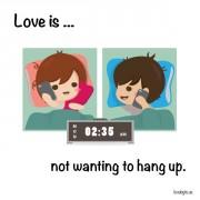Љубов е... Кога никој не сака да го прекине разговорот.
