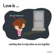 Љубов е... Да сакаш да запре времето кога сме заедно.