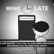Кога доцните – Го трошите вашето време за нешто непотребно и пропуштате нешто корисно