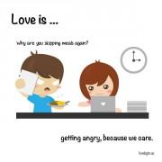 Љубов е... Кога ќе се налутиме, затоа што се грижиме.