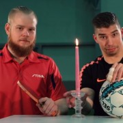 Футпонг: Неверојатни трикови со фудбалска топка и пинг-понг топче