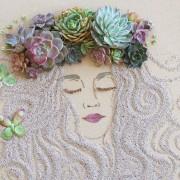 Природни портрети изработени со цветови, листови и гранки