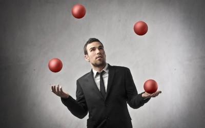 Замислете си го животот како жонглерска точка