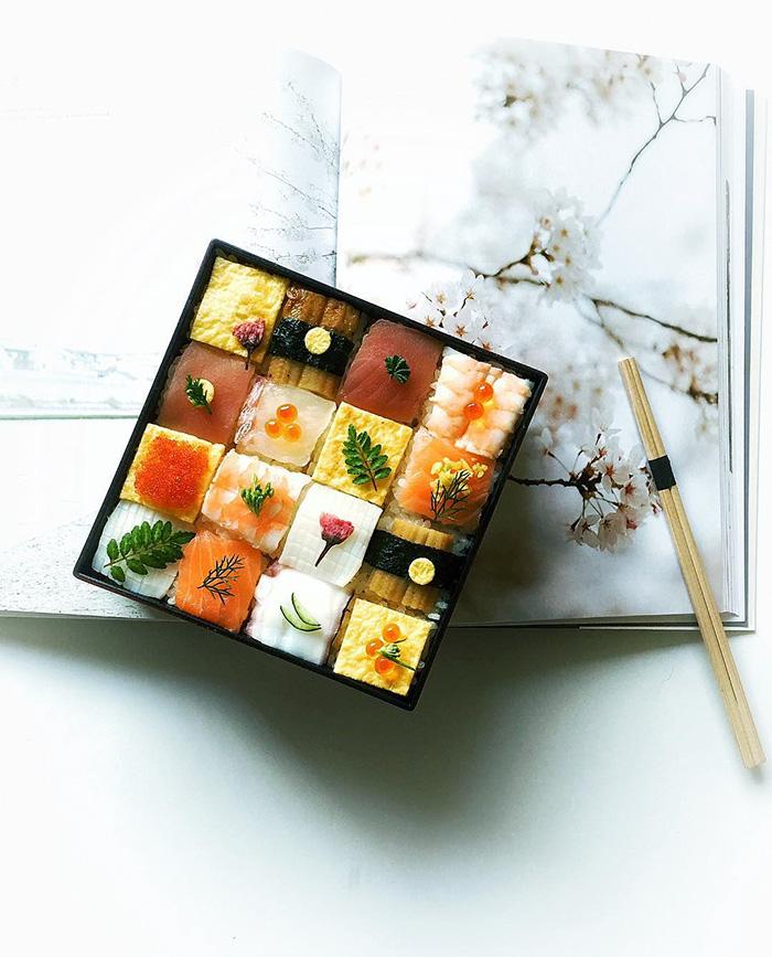 (1) Мозаик суши: Тренд кој полека ги освојува сите социјални мрежи
