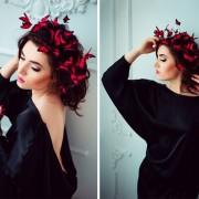 (1) Уникатен моден додаток: Круна со пеперутки