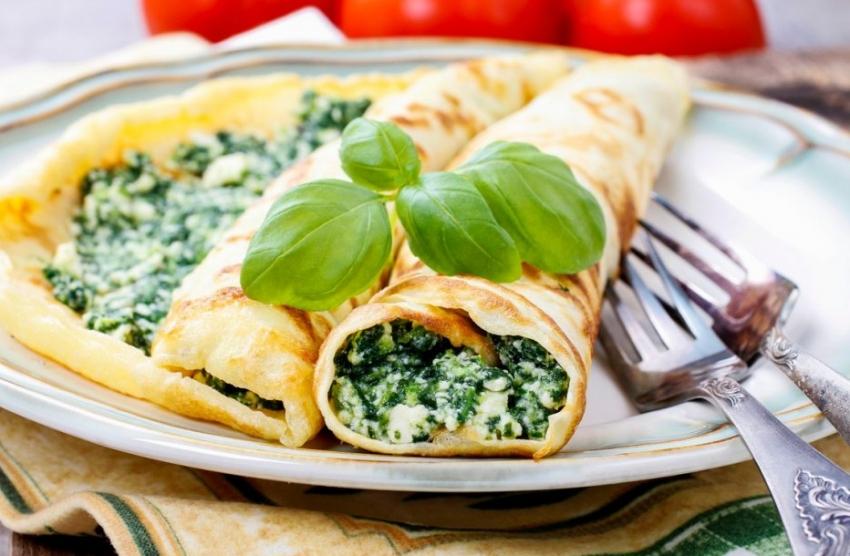 Необичен, но незаборавен вкус: Палачинки со спанаќ, сланина и праз
