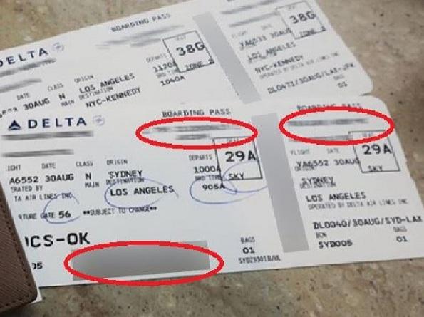 За ваша безбедност, никогаш не објавувајте фотографии од картата за летање