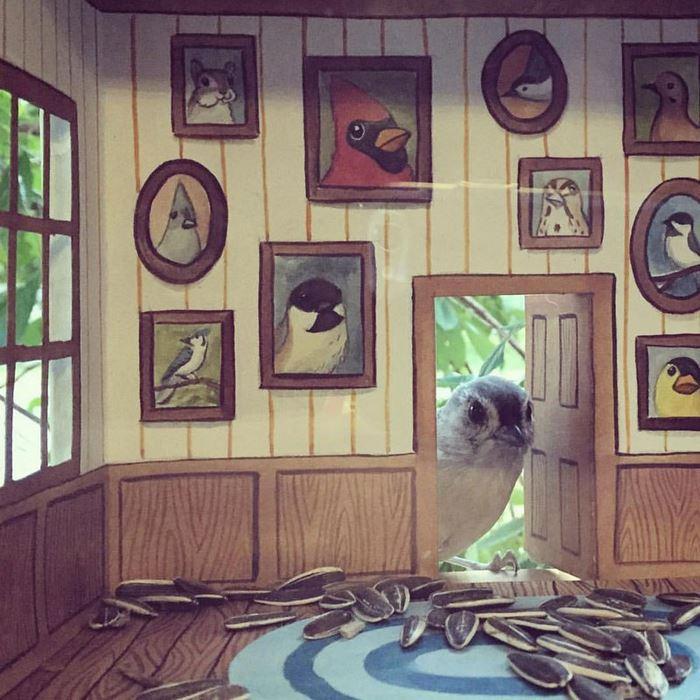 Креативно и интересно: Жена создава мали куќички за птиците кои ја посетуваат