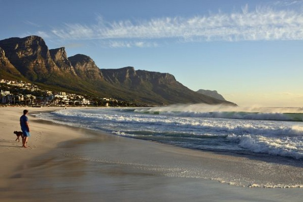 Beach of Camps Bay, Cape Town, Western Cape, South Africa, Image: 190663161, License: Royalty-free, Restrictions: , Model Release: no, Credit line: Profimedia, imageBROKER