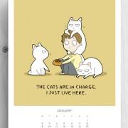 Мачките се главни! Јас само живеам тука!