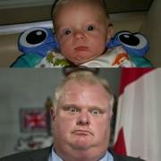 Ова бебе изгледа како Роб Форд