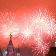 Спектакуларен огномет во Москва, Русија
