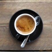Feshly brewed espresso